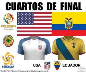 Układanka USA - ECU, Copa America 2016