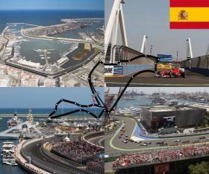 Układanka Valencia Street Circuit - Hiszpania -
