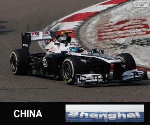 Układanka Valtteri Bottas - Williams - Szanghaj 2013