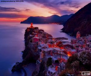 Układanka Vernazza, Włochy