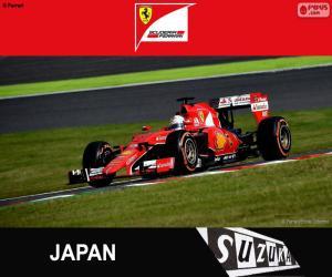 Układanka Vettel G. P. Japonia 2015