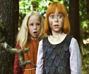 Układanka Vicky tarcie Viking obok jej najlepsza przyjaciółka, Ylvi