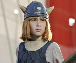 Układanka Vicky tarcie Viking w hełmie z rogami