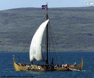 Układanka Viking żaglowiec
