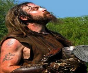 Układanka Viking twarzy wąsy i brodę