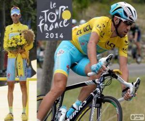 Układanka Vincenzo Nibali, zwycięzca Tour de France 2014