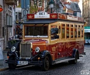 Układanka Vintage autobus