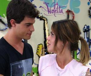 Układanka Violetta i Diego