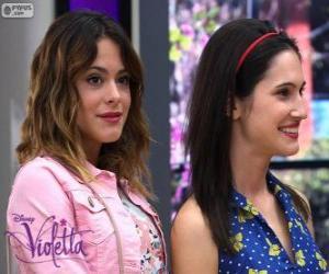 Układanka Violetta i Francesca