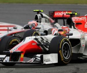 Układanka Vitantonio Liuzzi - HRT - Silverstone 2011