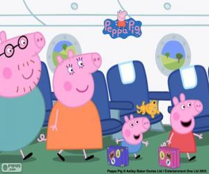Układanka Wakacje rodziny Peppa Pig