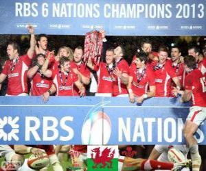 Układanka Walijski mistrz 2013 sześciu Narodów
