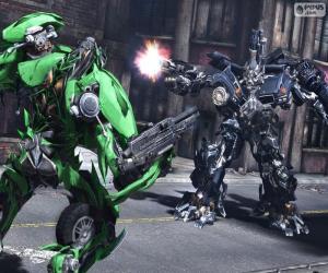 Układanka Walka między dwa Transformery