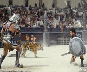 Układanka Walki gladiatorów