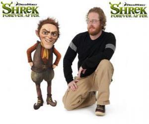 Układanka Walt Dohm stanowi głos Rumpelstiltskin, ostatni w filmie Shrek Forever
