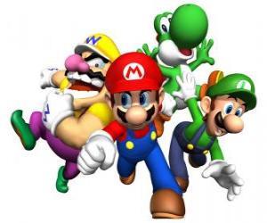 Układanka Wario, Mario, Luigi i Yoshi