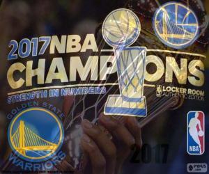 Układanka Warriors,, mistrzów NBA 2017