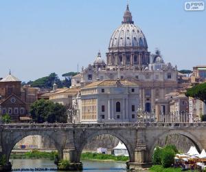 Układanka Watykan, Rzym, Włochy