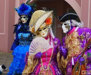 Układanka Weneckie klasyczny kostium
