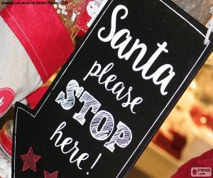 Układanka Wiadomość dla Świętego Mikołaja