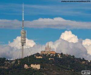 Układanka Widok ogólny Tibidabo, Barcelona