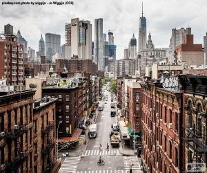 Układanka Widok ulicy w Manhattan