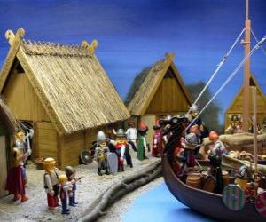 Układanka Wieś Viking Playmobil