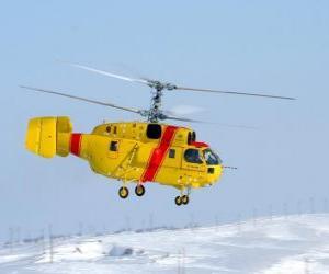 Układanka Wielka śmigłowca Ka-32A11BC