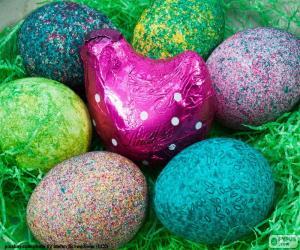 Układanka Wielkanoc w Gniazdo