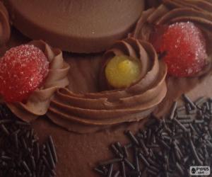 Układanka Wielkanocne ciasta, czekolada