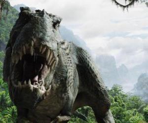 Układanka Wielki dinozaur z otwartymi ustami