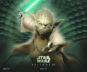 Układanka Wielki mistrz Yoda, mistrz Jedi
