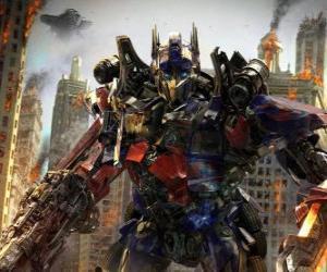 Układanka Wielki robota Transformer z Disney