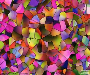 Układanka Wielokąty kolorów