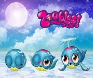 Układanka Wieloryb, Zoobles z Seagonia
