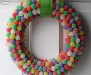 Układanka Wieniec Candy Christmas