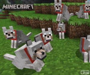 Układanka Wilki Minecraft