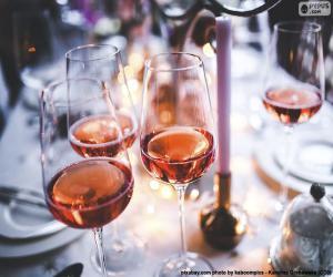 Układanka Wina różowe okulary