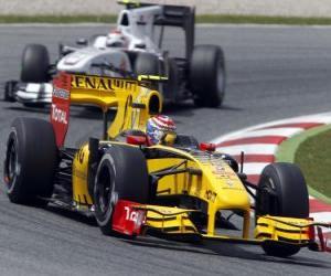 Układanka Witalij Pietrow - Renault - Barcelona 2010