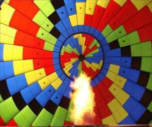 Układanka Wnętrze balonu z płomieniem