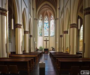 Układanka Wnętrze kościoła