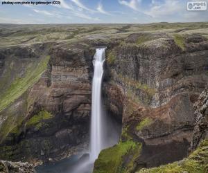 Układanka Wodospad Háifoss, Islandia