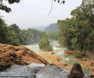 Układanka Wodospady Agua Azul, Meksyk