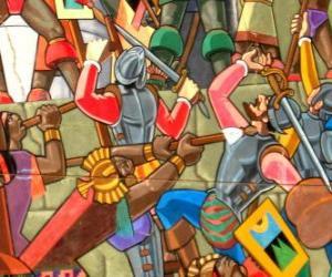 Układanka Wojowników walki Inków