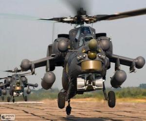 Układanka Wojskowy helikopter