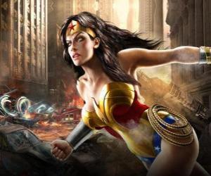 Układanka Wonder Woman jest nieśmiertelny superheroine z uprawnienia podobne do Superman