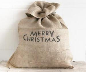 Układanka Worek z Boże Narodzenie prezenty