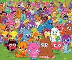 Układanka Wszystkie potwory z Moshi Monsters