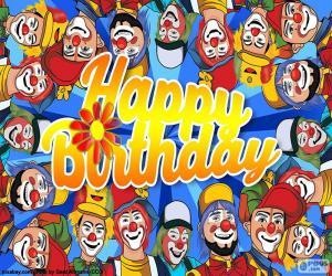 Układanka Wszystkiego najlepszego z klaunów