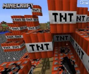 Układanka Wybuchowe blok Minecraft TNT